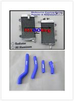 FOR YAMAHA YZF450 YZ450F  07 08 09 ALUMINUM  RADIATOR WITH BLUE HOSE KIT