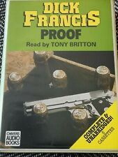 DICK FRANCIS - PROOF - Chivers audio book 8 CASSETTE