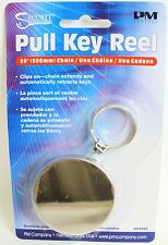 Retractable key chain LARGE Pull Ring Reel  Belt Clip - ID Security badge card