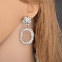 Fashion Women irregularity Geometric Oval Drop Dangle Stud Earring Jewelry