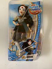 "DC Super Hero Girls Katana Action Figure Doll 12"" Damaged Box"