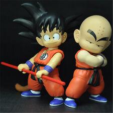 Anime Dragon Ball Z Son Goku Krillin PVC Action Figures Kids Toys Gift 19cm 2PCS