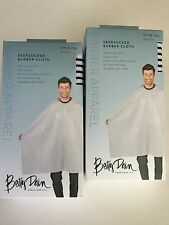 *2 FOR $24. *BETTY DAIN Seersucker Striped BARBER STYLING/HAIRCUTTING CLOTH CAPE