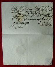1790 Detmold LEOPOLD I. von LIPPE - eigh. Brief des geistesgestörten Fürsten