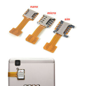 Micro SD Extender TF Hybrid Sim Slot Dual SIM Card Adapter For Android Phone