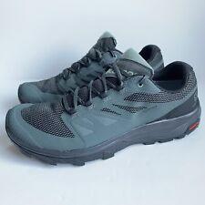 Salomon Outline GTX Mens Size 11 Black Green Hiking Trail Gore-Tex Shoes 404771