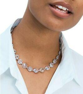 NWT⭐ Kate Spade Sparkling Chandelier Short Crystal Necklace Silver Bride