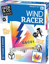Wind Racer Science Project Kit Geek & Co. Sale Cars and Boats Wind Powered Model
