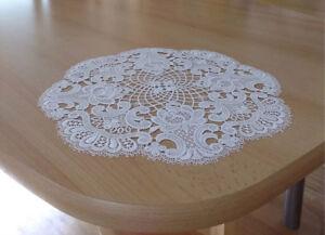 Spitzendecke Lilli rund Plauener Spitze edle Vollspitze Tischläufer Tischdecken