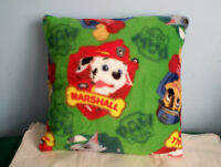 NEW GREEN PAW PATROL FLEECE PILLOW ROCKY RUBBLE CHASE MARSHALL CUTE L@@K