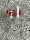 VTG WISCONSIN IS FOR LOVERS BEER GLASS THUMBPRINT GOBLET FOOTED WI BADGERS