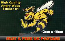 Angry Wasp Hornet Sticker Moto GP laptop helmet bike car scooter Finger, Rude,