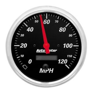 AutoMeter 1489 Designer Black Air-Core Speedometer Gauge, 5 Inch