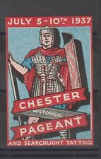 Uk Poster Stamp Chester Historical Pageant Roman 1937
