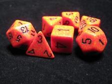 Dungeons & Dragons Fantasy 16mm 7 Piece Dice Set: Speckled Fire 25303