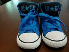 Converse Toddler  All Star Sneakers Size 8 Rare Blue High Cut Used