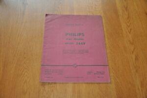 Philips Car Radio Model 344V Workshop Service Manual
