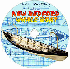 NEW BEDFORD & NAVY MODEL BOAT PLAN FOR A  WHALE BOAT & PREP OF LINE DRAWING