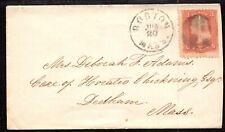 EDSROOM-MASTER-140 MAJ GEN BONESTEEL COLLECTION SC# 65 BOSTON TO DEDHAM MA C1865