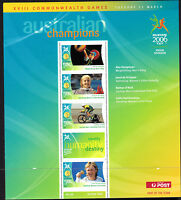 2006 Australia MS Commonwealth games sheet 9 cycling shooting weightlifting
