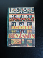 Almanach agenda de Benjamin-1932-Jaboune-Touchet-Pinchon-Stonkus-humour-chansons