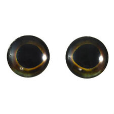 Pair of 25mm Dark Fish Glass Eyes for Jewelry or Taxidermy Doll Making