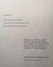 CINDERELLA - Play Script for Broadway Version 2013 - Unbound Cast Member Copy