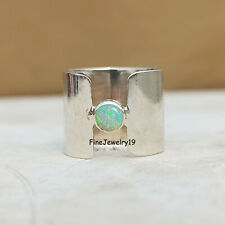 Ethiopian Opal Ring Solid 925 Sterling Silver Ring Band Ring Handmade Ring - N42