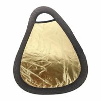 12.5 inch/11.5 inch 2 in 1 Golden / Silver Double-Faced Photography Reflector FP