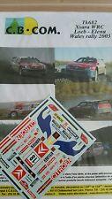 DECALS 1/43 REF 682 CITROEN XSARA WRC SEBASTIEN LOEB RALLYE WALES RAC 2003 RALLY
