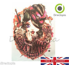 Large 3D Waterproof Vampire Girl Anime Temporary Tattoo Sticker Kawaii Harajuku