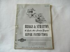 Briggs Amp Stratton 4 Cycle Air Cooled Engine Repair Service Instruction Manual