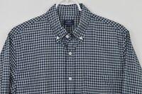 J CREW Medium Long Sleeve Shirt Button Down Heathered Cotton Plaid Blue