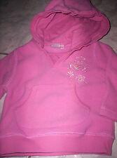Süßer Fleece-Pullover mit Motiv und Kaputze, rosa  Gr.74