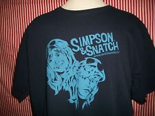 YouTube Stars SIMPSON & SNATCH Navy 100% Cotton Size XL T-Shirt