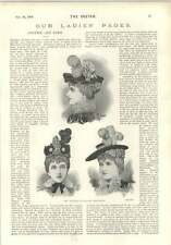 1896 Fashions Ancient And Modern New Hats Mme Argentine