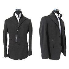 """Giacca Uomo """"Coats&Coats"""" Modello Finto Gilet ANTRACITE Cotone & Alcantara"""