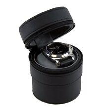 Heiden Traveler Watch Case Black Leather - Cylindrical