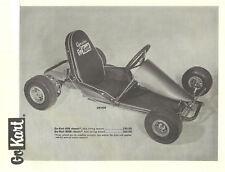 Vintage 1960's Go-Kart 808 Ad & Parts List 3 Pages!