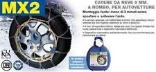 CATENE NEVE AUTO AUTOMATICHE MX2 9mm ROMBO GR 9 185/75-15
