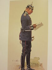 VINTAGE PRINT KAISER'S GERMAN ARMY ~ MAJOR TELEGRAPHEN BATAILLON KOTTBUS