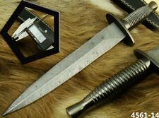 HANDMADE DAMASCUS STEEL BRITISH COMMANDO TACTICAL HUNTING DAGGER KNIFE (4561-14