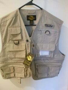 NWT White River Fly Shop Fly Fishing Vest 20 Pocket Zip Fish Lure Small Tan New