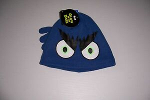 JOE BOXER BOY'S BLUE GLOW IN THE DARK WINTER BEANIE CAP & GLOVE SET L/XL NWT!