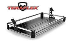 TeraFlex Rear Utility Cargo Rack - Silver for 2007-2017 Jeep Wrangler JK 4 Door