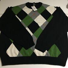 Mercer Street Studio Men's 2XL Argyle Sweater Pullover NWT $55