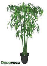 Bamboo Artifical Plastic Plant Tree With Real Wood Trunk 140cm Indoor Decovego