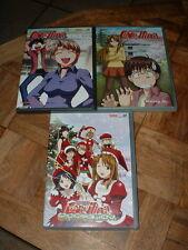 3 Volumes Love Hina Japan Anime Dvd Set in English & Japanese