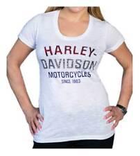e1c52f7e Harley-Davidson Women's Blinged Heritage Short Sleeve Scoop Neck Tee - White