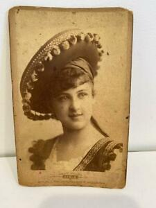 Antique Cabinet Card Photo Portrait Atelier Adele Studio Photo Vienna Actress  A